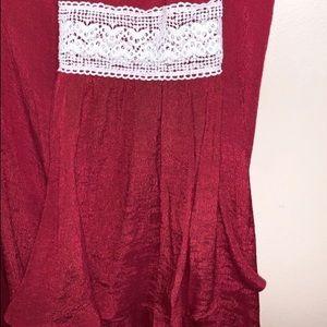 Umgee Dresses - EUC Umgee Crochet Bell Sleeve Dress